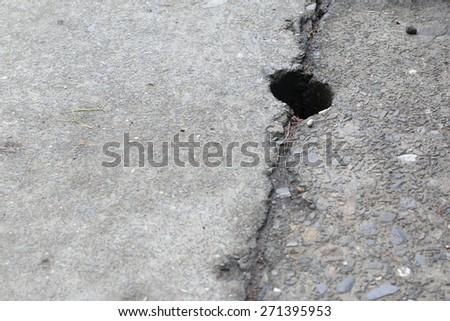 Hole Drain on Path, Background - stock photo