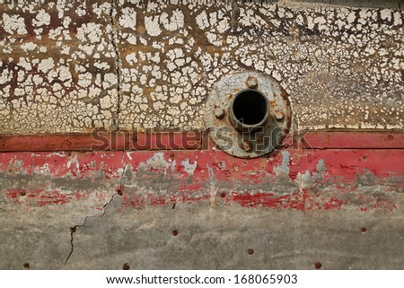 hole in ship - stock photo