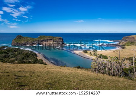 Hole in the wall beach - Coffee Bay Eastern Cape - South Africa - stock photo