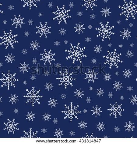 Holiday background, Christmas background, snowflake pattern, snowflake decorations, Christmas Decoration, winter background. - stock photo