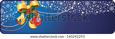 Holiday banner with copy space.  - stock photo
