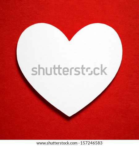 Holiday Card. Heart from paper Valentines day. More in portfolio. - stock photo
