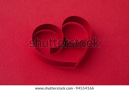 Holiday Card. Valentines day - stock photo