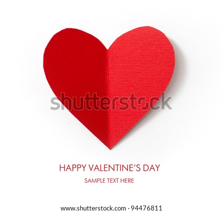Holiday Card. Valentines day. Look through my portfolio to find more images of the same series - stock photo