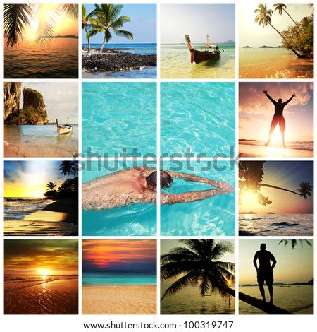 Holiday collage - stock photo