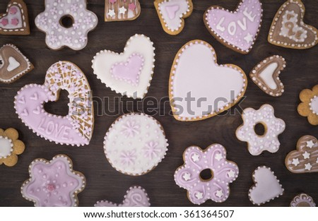 holiday cookies - stock photo