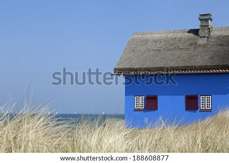 Holiday cottage at the Baltic Sea in Heiligenhafen, Schleswig-Holstein,Germany - stock photo