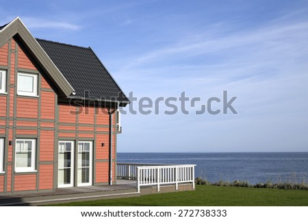Holiday cottages in Germany - stock photo