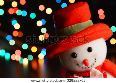 Holiday Decorations, Christmas background, Photo in retro style, toned image, selective focus - stock photo