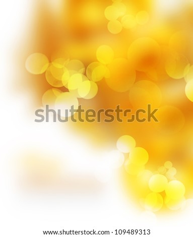 Holiday Gold abstract background. Bokeh - stock photo