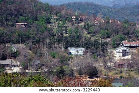Holiday Island gated community.Ozark Mountains,Arkansas - stock photo