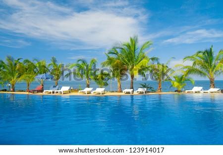 Holiday Lifestyle Blue Luxury - stock photo