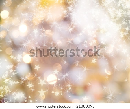 Holiday lights background - stock photo
