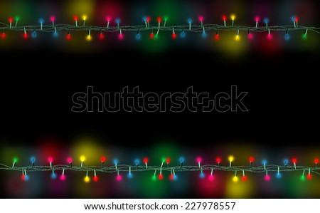 Holiday lights (Christmas card) - stock photo