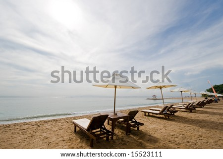 holiday or vacation beach - stock photo
