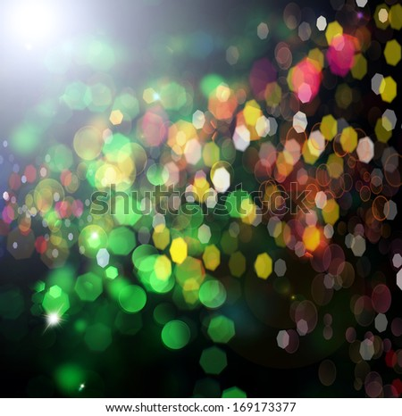 Holiday.Party. Abstract Backdrop with Lights - stock photo