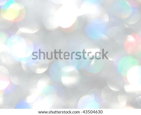 Holiday season light illumination off focus background - stock photo
