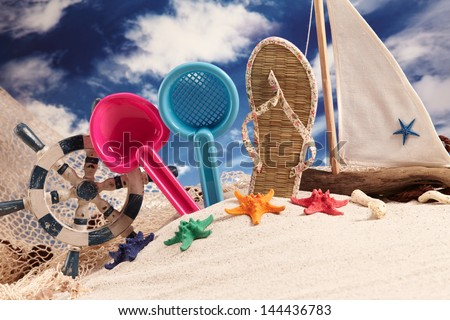 Holiday, summer, beach.  - stock photo