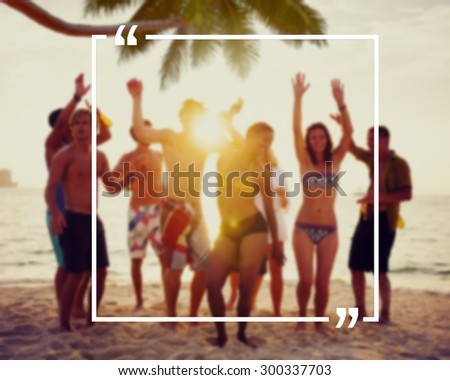 Holiday Summer Vacation Frame Pattern Concept - stock photo
