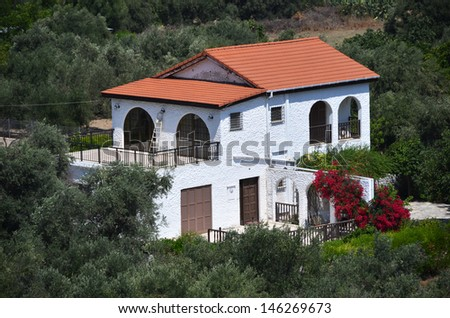 Holiday villa in Cyprus - stock photo