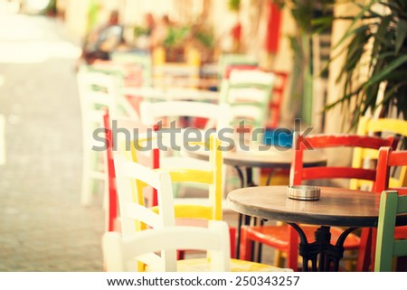 Holidays in Crete, impressions of Greece - stock photo
