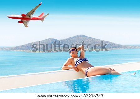 Holidays in Greece - stock photo