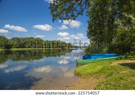 Holidays in the countryside. Rural tourism. - stock photo