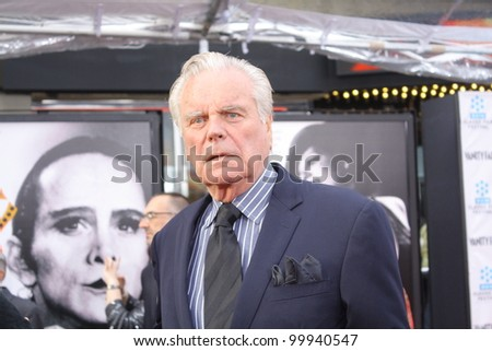 HOLLYWOOD - APRIL 12, 2012: Actor Robert Wagner walks the red carpet opening night of the TCM Classic Film Festival held at Grauman's Chinese Theatre Hollywood, CA April 12, 2012. - stock photo