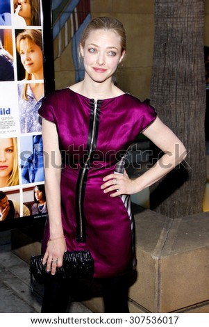 HOLLYWOOD, CA - APRIL 19, 2010: Amanda Seyfried at the Los Angeles premiere of 'Mother and Child' held at the Egyptian Theater in Hollywood, USA on April 19, 2010. - stock photo