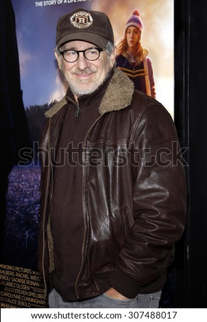 HOLLYWOOD, CA - DECEMBER 07, 2009: Steven Spielberg at the Los Angeles premiere of 'The Lovely Bones' held at the Grauman's Chinese Theater in Hollywood, USA on December 7, 2009. - stock photo