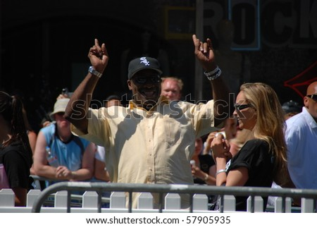 HOLLYWOOD, CA-JULY 25: Actor Michael Clark Duncan arrives at the Cats & Dogs: The Revenge Of Kitty Galore' Los Angeles Premiere at Grauman's Chinese Theatre on July 25, 2010 in Hollywood, California. - stock photo