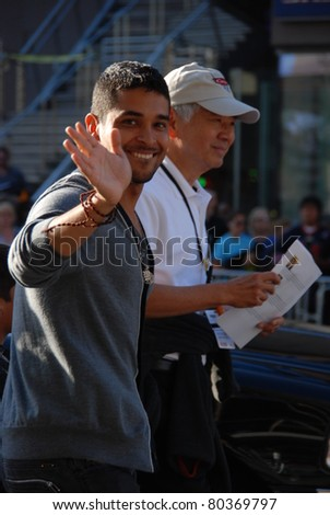 "HOLLYWOOD, CA- JUNE 18: Actor Wilmer Valderrama (L) attends the Disney's Pixar ""Cars 2"" premiere, held at El Capitan Theatre, June 18, 2011 in Hollywood,CA. - stock photo"