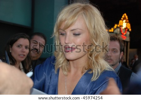 """HOLLYWOOD, CA- JUNE 1: Actress Malin Akerman attends the premiere of the movie """"The Proposal"""" held at El Capitan Theatre in Hollywood, June 1, 2009 in Hollywood, CA. - stock photo"""