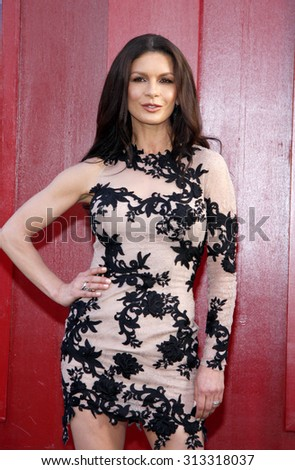 HOLLYWOOD, CA - JUNE 08, 2012: Catherine Zeta-Jones at the Los Angeles premiere of 'Rock of Ages' held at the Grauman's Chinese Theatre in Hollywood, USA on June 8, 2012. - stock photo