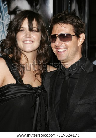 HOLLYWOOD, CA - MAY 04, 2006: Tom Cruise and Katie Holmes at the Los Angeles premiere of 'Mission: Impossible 3' held at the Grauman's Chinese Theatre in Hollywood, USA on May 4, 2006. - stock photo