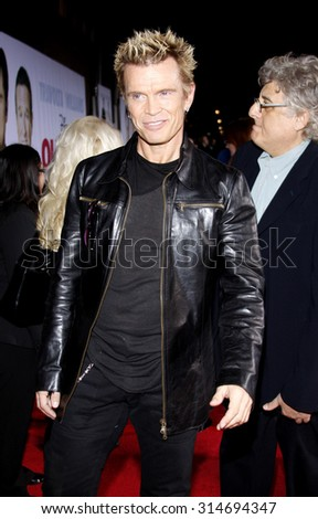 HOLLYWOOD, CA - NOVEMBER 09, 2009: Billy Idol at the World premiere of 'Old Dogs' held at the El Capitan Theater in Hollywood, USA on November 9, 2009. - stock photo