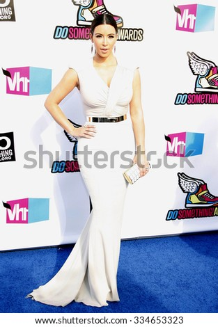 HOLLYWOOD, CALIFORNIA - August 14, 2011. Kim Kardashian at the VH1 Do Something Awards held at the Palladium Hollywood, Los Angeles.  - stock photo