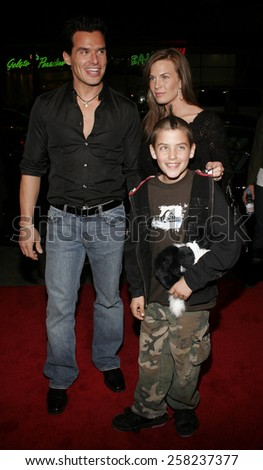 """HOLLYWOOD, CALIFORNIA. February 2, 2006. Antonio Sabato jr. attends the Warner Bros World Premiere of """"Firewall"""" held at the Grauman's Chinese Theatre in Hollywood, California United States.  - stock photo"""