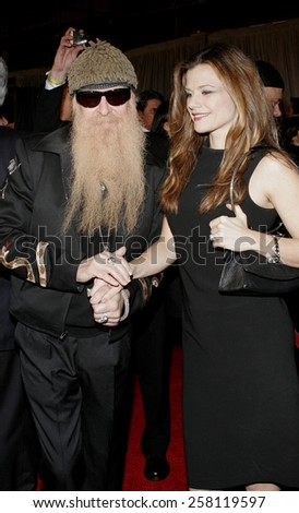 "HOLLYWOOD, CALIFORNIA. January 5, 2006. Billy Gibbons of ZZ Top attends the World Premiere of ""Glory Road"" at the Pantages Theater in Hollywood, California United States.  - stock photo"