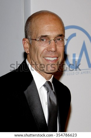 HOLLYWOOD, CALIFORNIA - January 22, 2010. Jeffrey Katzenberg at the 22nd Annual Producers Guild Awards held at the Beverly Hilton hotel, Los Angeles.   - stock photo