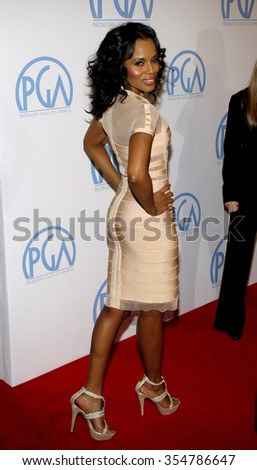 HOLLYWOOD, CALIFORNIA - January 22, 2010. Kerry Washington at the 22nd Annual Producers Guild Awards held at the Beverly Hilton hotel, Los Angeles.   - stock photo