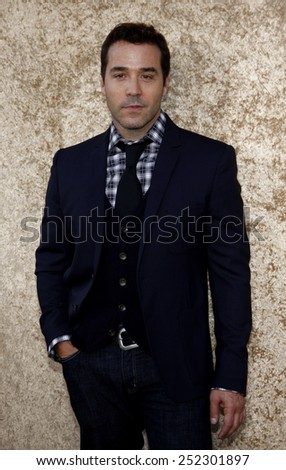 """HOLLYWOOD, CALIFORNIA - June 16, 2010. Jeremy Piven at the Season 7 premiere of """"Entourage"""" held at the Paramount Pictures Studios, Hollywood.  - stock photo"""