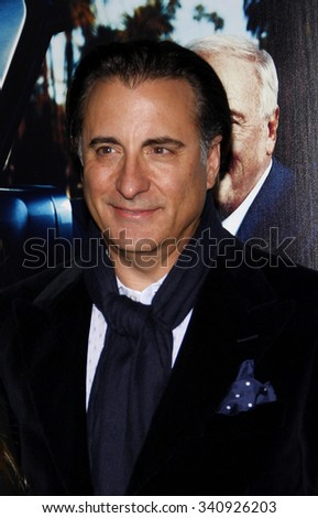 """HOLLYWOOD, CALIFORNIA - March 22, 2011. Andy Garcia at the Los Angeles premiere of """"His Way"""" held at the Paramount Studios, Los Angeles.  - stock photo"""