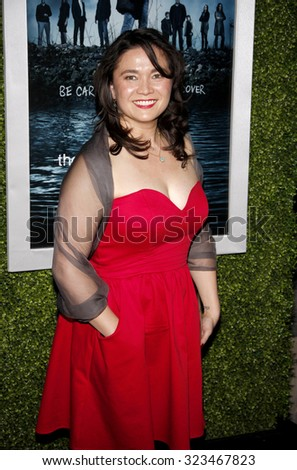HOLLYWOOD, CALIFORNIA - March 26, 2012. Annie Corley at the Los Angeles Season 2 premiere of AMC's 'The Killing' held at the ArcLight Cinemas in Hollywood. - stock photo