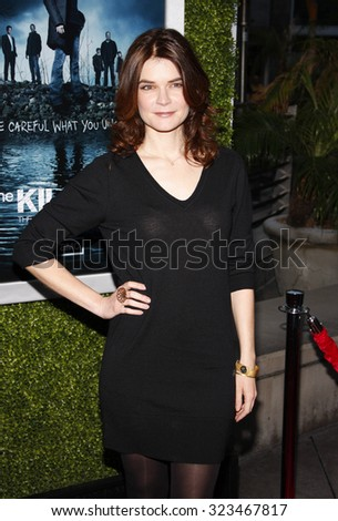 HOLLYWOOD, CALIFORNIA - March 26, 2012. Betsy Brandt at the Los Angeles Season 2 premiere of AMC's 'The Killing' held at the ArcLight Cinemas in Hollywood. - stock photo