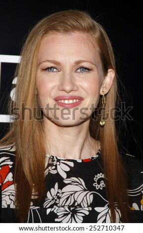 HOLLYWOOD, CALIFORNIA - Monday March 26, 2012. Mireille Enos at the Los Angeles Season 2 premiere of AMC's 'The Killing' held at the ArcLight Cinemas, Los Angeles.  - stock photo
