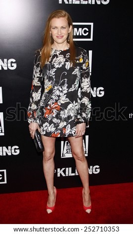 HOLLYWOOD, CALIFORNIA - Monday March 26, 2012. Mireille Enos at the Los Angeles Season 2 premiere of AMC's 'The Killing' held at the ArcLight Cinemas, Los Angeles - stock photo