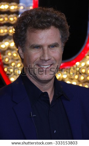 "HOLLYWOOD, CALIFORNIA - November 15, 2010. Will Ferrel at the Los Angeles premiere of ""Burlesque"" held at the Grauman's Chinese Theater, Los Angeles.   - stock photo"