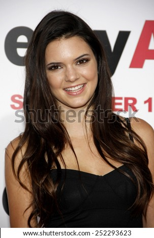 """HOLLYWOOD, CALIFORNIA - September 13, 2010. Kendall Jenner at the Los Angeles premiere of """"Easy A"""" held at the Grauman's Chinese Theater, Los Angeles.  - stock photo"""