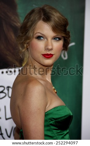 """HOLLYWOOD, CALIFORNIA - September 13, 2010. Taylor Swift at the Los Angeles premiere of """"Easy A"""" held at the Grauman's Chinese Theater, Los Angeles.  - stock photo"""